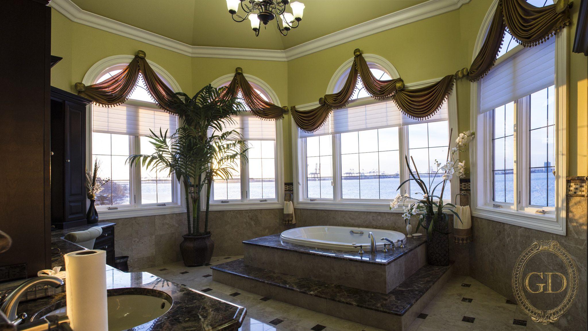Custom Arched Window Treatments Gallery Bergen County Nj